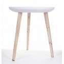 SIM - Table Bois Blanchie D43 x H46 cm