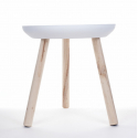 SIM - Table Bois Blanchie D32 x H41 cm