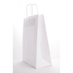 Sac Kraft Blanc 100g torsadées 22x10x31 - 50 sacs