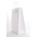 Sac Kraft Blanc 90g a/torsadées 18x8x22 cm - 50 sacs