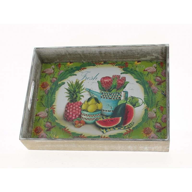 FRUIT - Plateau Bois Design Fruit L36 x P27 x H7 cm