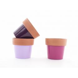 ALBI - Cache Pot Céramique Terracotta Assortis D12 x H12 cm par 12