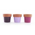 ALBI - Cache Pot Céramique Terracotta Assortis D12 x H12 cm par 9