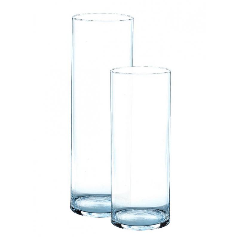 Vase cylindre en verre h30 d 19cm