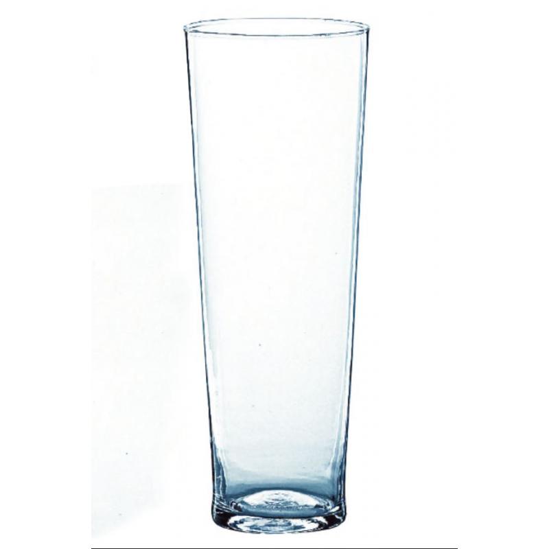 Vase Verre Conique D19 x H70 cm