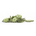Tournesols Bois d5 cm vert par 30