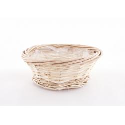 MIEL Coupe ronde osier naturel bord ourlé d20 cm par 5