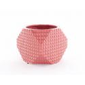 ALBA - Cache Pot Céramique Octo Facettes Rouge D14 x H10 cm par 6