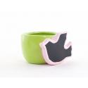 Cache Pot Oiseaux Assortis D7.5 x H6 cm par 6