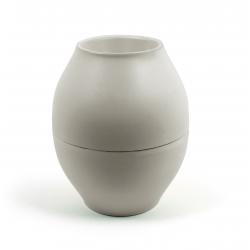 Vase Diabolo Gris D15 x H18 cm Par 10