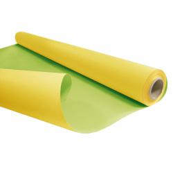 DUO - Rouleau Kraft Jaune / Vert pâle 0.80 x 40 m - 60gr / m²