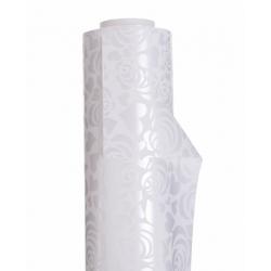 "Opaline 0.80x40m ""Coeur de Rose"" Blanc"