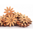 Tournesols Bois d5 cm orange par 30