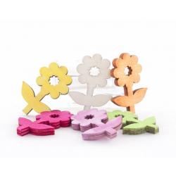 Fleurs Feuille bois d5 cm Cyclamen par 30