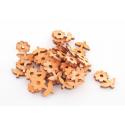 Fleurs Feuille bois d5 cm Orange par 30