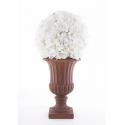 Hortensia Boule Blanc D30cm