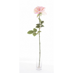 GARDEN - Rose ouverte artificielle 64cm Rose