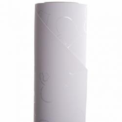"Opaline ""Coeur"" 0.8x40m Blanc"