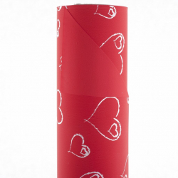 "Opaline ""Coeur"" 0.8x40m Rouge Blanc"