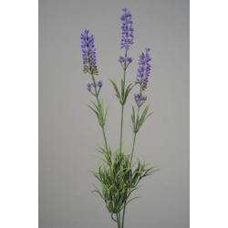 Lavande plast. branche 3 fleurs 62 cm Violet