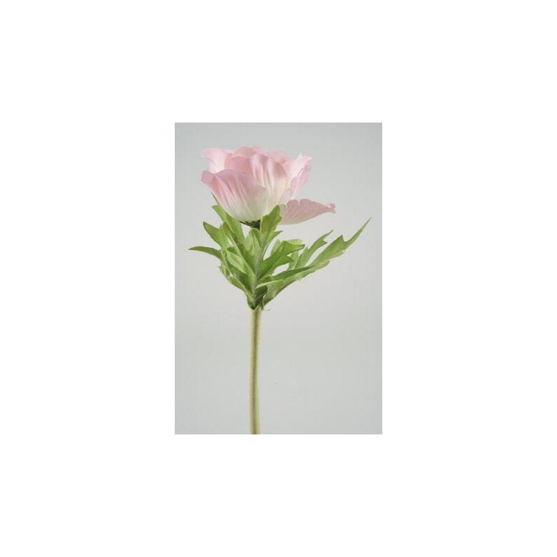 Anemone sur tige 35 cm Rose