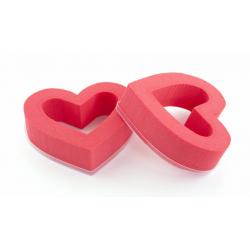 Coeur Ouvert Rouge 18cm par 2