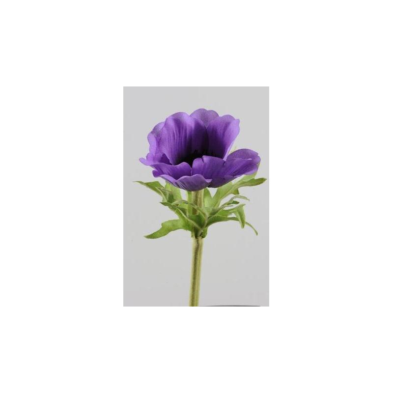 Anemone sur tige 35 cm Violet