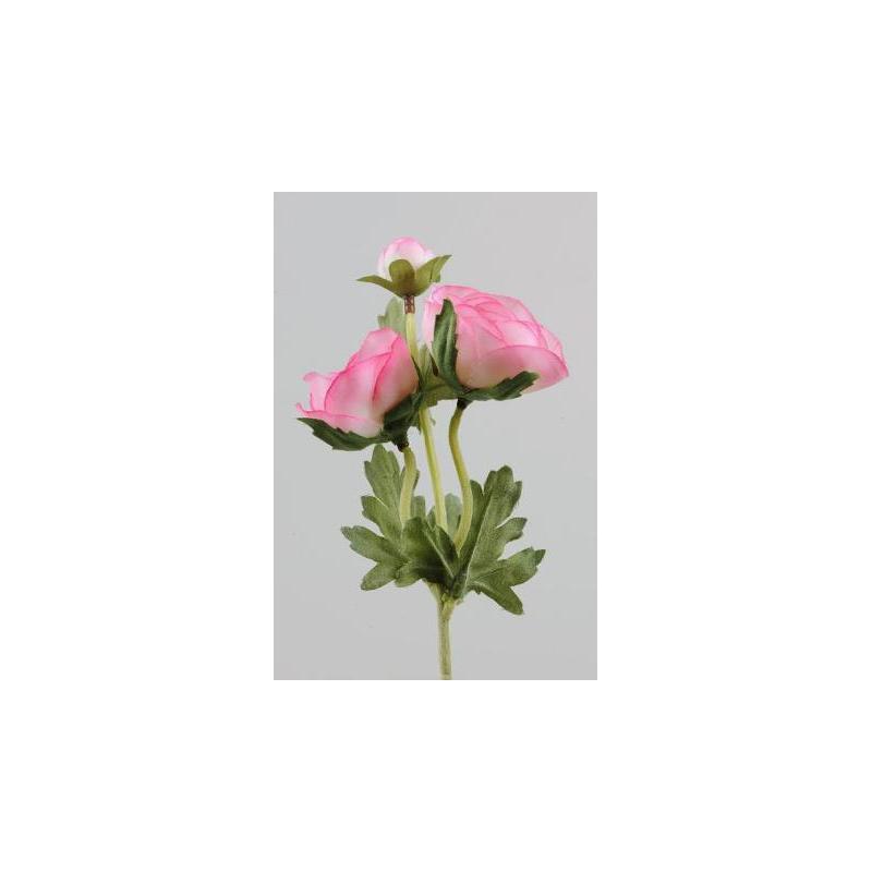 Renoncule sur tige 28 cm Rose