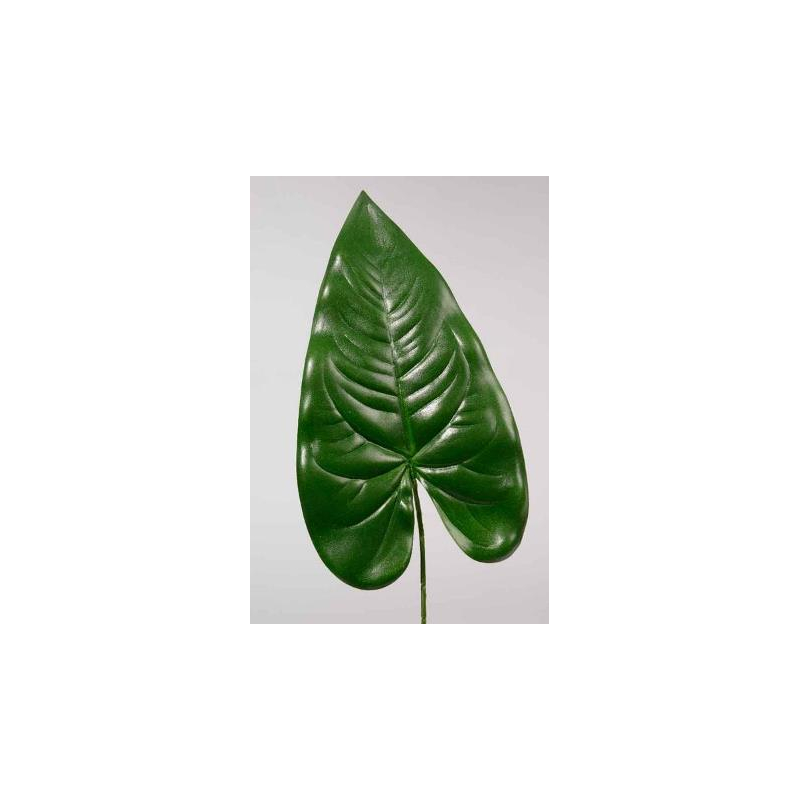 Feuille Anthurium tige 72 cm Vert