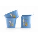 BELLE - Boite Conserve Zinc Bleu Mer D7 x H9 cm