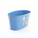 BELLE - Jardinière Zinc Ovale Bleu Mer L15 x P8 x H7,5 cm