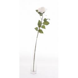 CILY - Rose ouverte artificielle H64 cm Crème