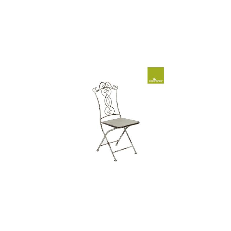 """Chaise métal 39.5x38 h95 """"Paula"""" Crème - lot de 2"""