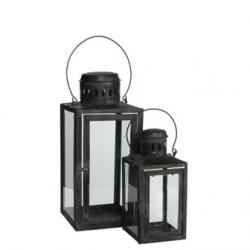 """Lanterne """"Lavelle"""" h27 et h40.5 cm - set de 2"""