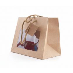 Sac Kraft Chic avec Fenêtre 24 x 14 x 19.5 cm par 10 sacs