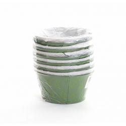 Coupe zinc D16 H8 Vert décor Feuilles par12