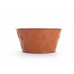 Coupe zinc D16 H8 Orange décor Feuilles par12