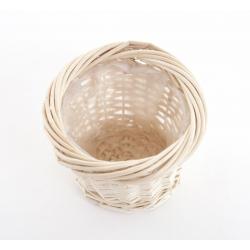 Cache-pot osier naturel D17 H13 cm