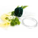 LADY 2 - Poignées de Mariées pour bouquets ronds Par 6
