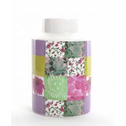 GIVERNY Vase Céramique Cylindre d10 h16cm Fleurs