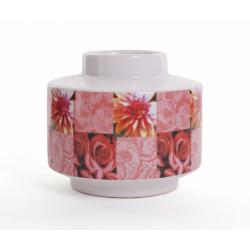 GIVERNY - Vase Céramique D13.5 x H12cm Fleurs