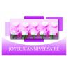 JOYEUX ANNIVERSAIRE - Carte Voeux Tendresse par 10