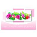 Carte Voeux Doubles Tendresse par 10 Heureux Anniversaire de Mariage