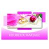 HEUREUX MARIAGE - Carte Voeux Doubles Tendresse par 10