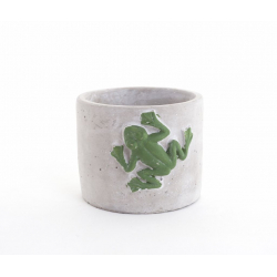 FROG - Pot ciment Grenouille d11 h10.5 cm