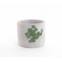 Pot ciment Grenouille d11 h10.5 cm