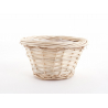 Coupe ronde osier naturel D20 H11 cm