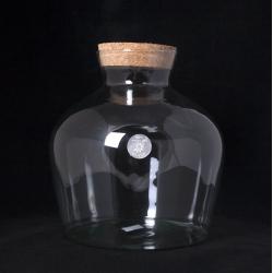 TERRA - Vase Jarre Terrarium + Bouchon D29 X H30 cm