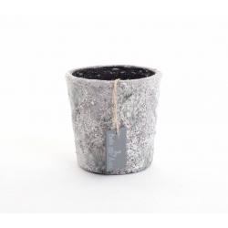 DYRA - Cache Pot Céramique Bleu Vert d15 x h12.5 cm
