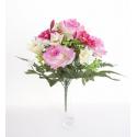 Bouquet Rose/ Lys x13-ht.36cm